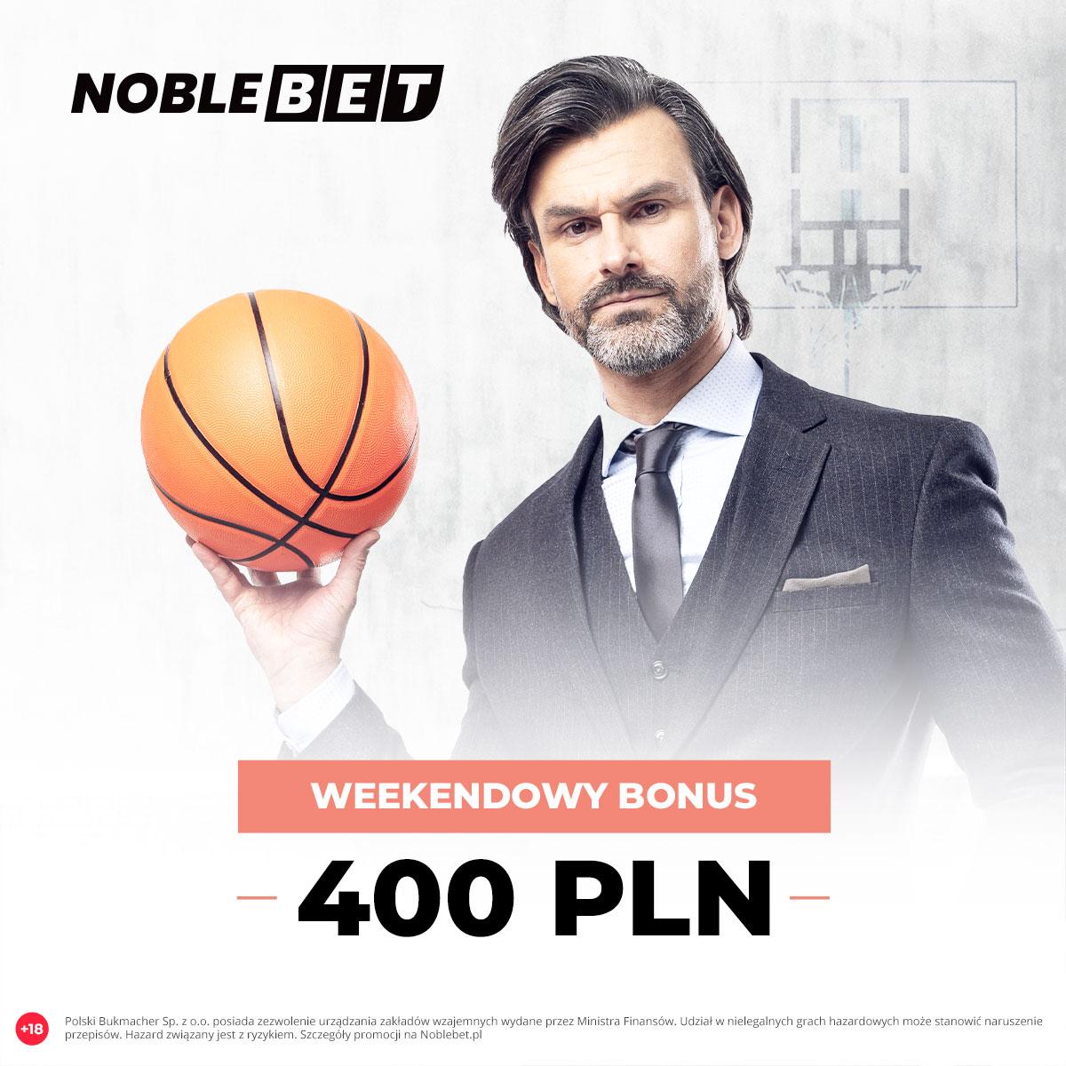 Noblebet – weekendowy bonus 400 PLN