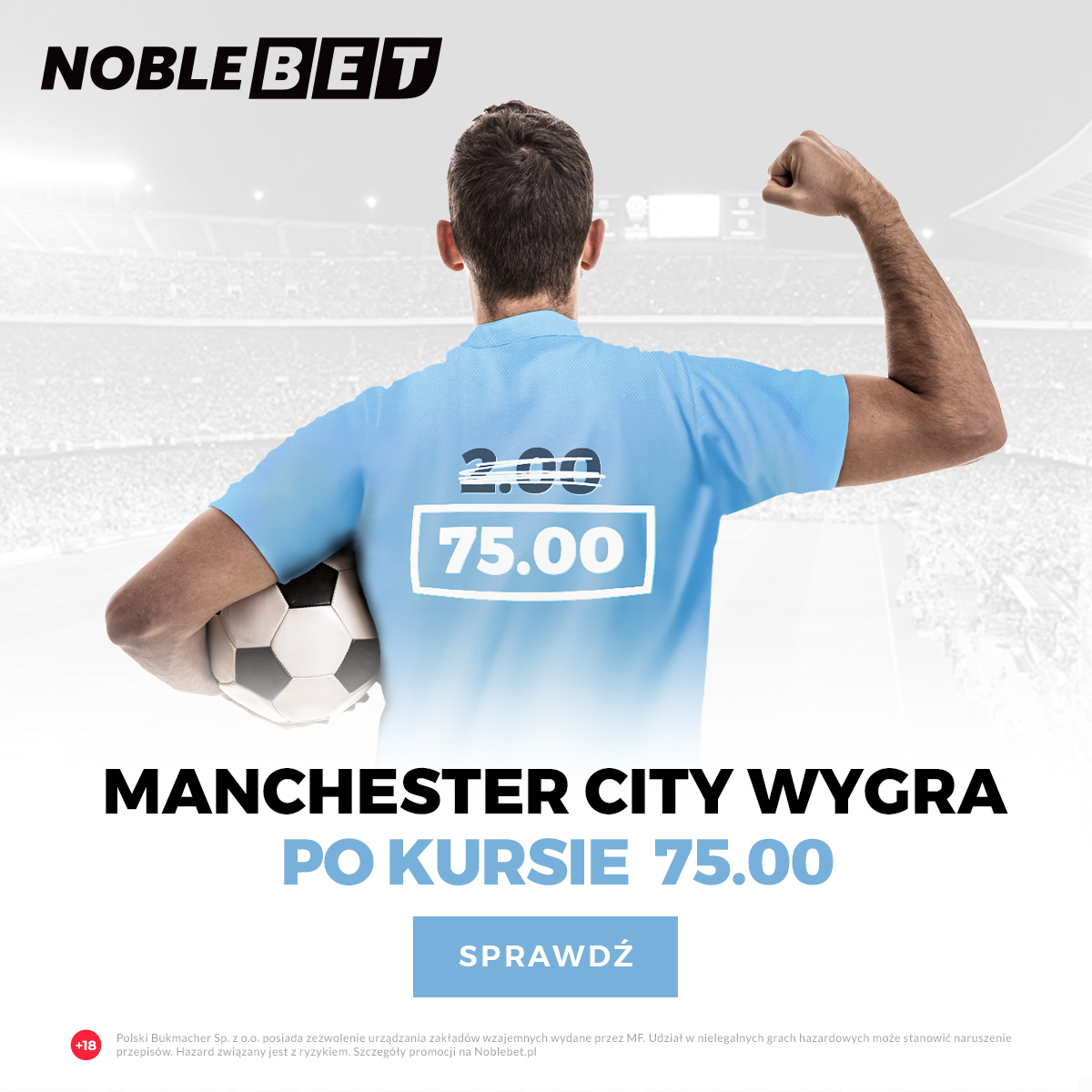 Manchester City wygra LM po kursie 75.00 !