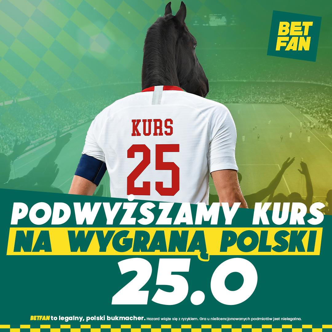 BETFAN | Kurs 25.00 na wygraną Polski ze Szwecją!