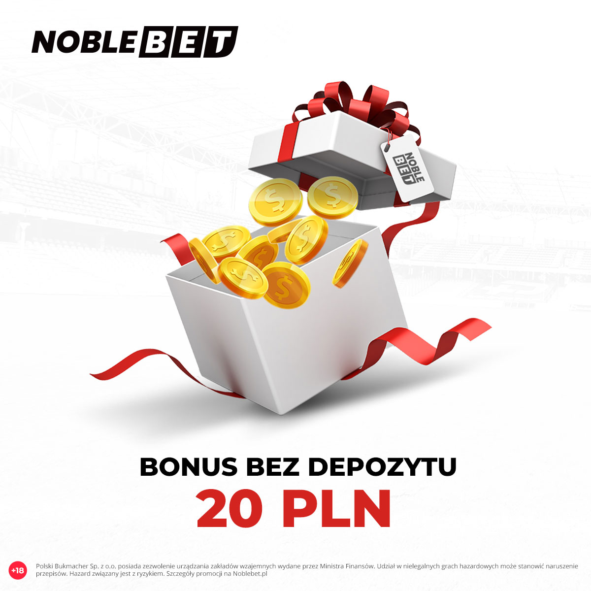 Noblebet – 20 zł bonus bez depozytu!
