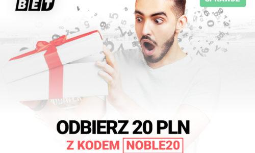 Noblebet – ponownie Bonus bez depozytu 20 PLN